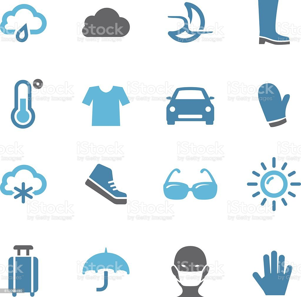 Weather Report Icons - Conc Series vector art illustration