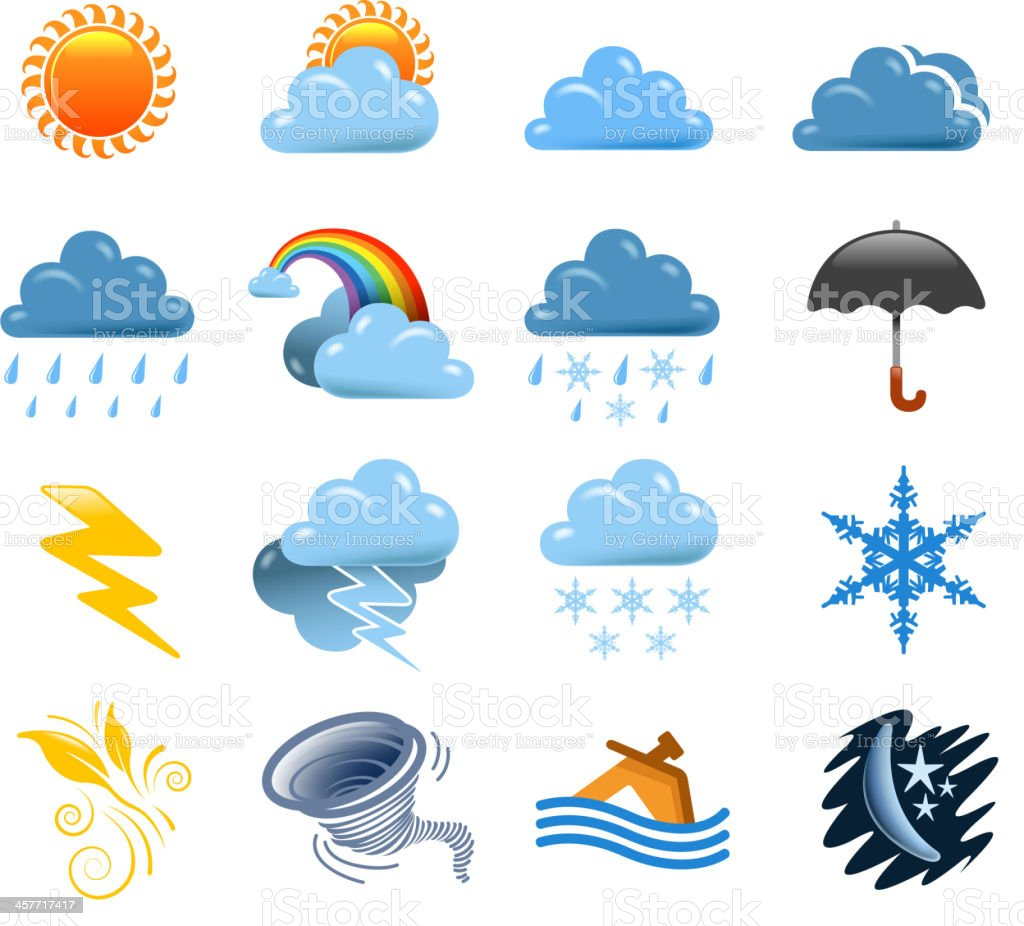 weather set royalty-free stock vector art