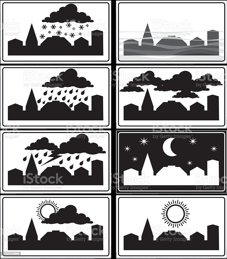 weather signs - built-up area royalty-free stock vector art