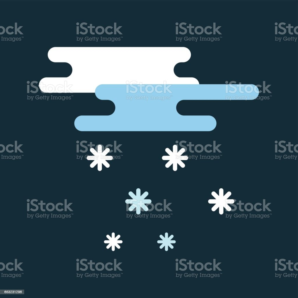 Weather snowflake icon vector illustration weather cloud icon wind symbol climate forecast snow sign cold season design night vector art illustration