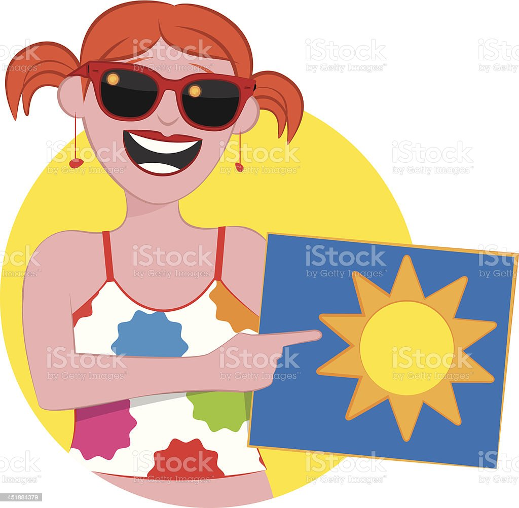 Weather - Sun is Shining Today royalty-free stock vector art