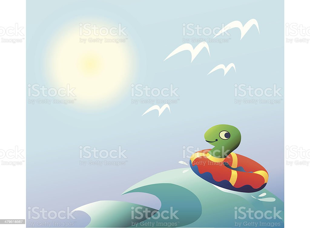 Weather - sunshine vector art illustration