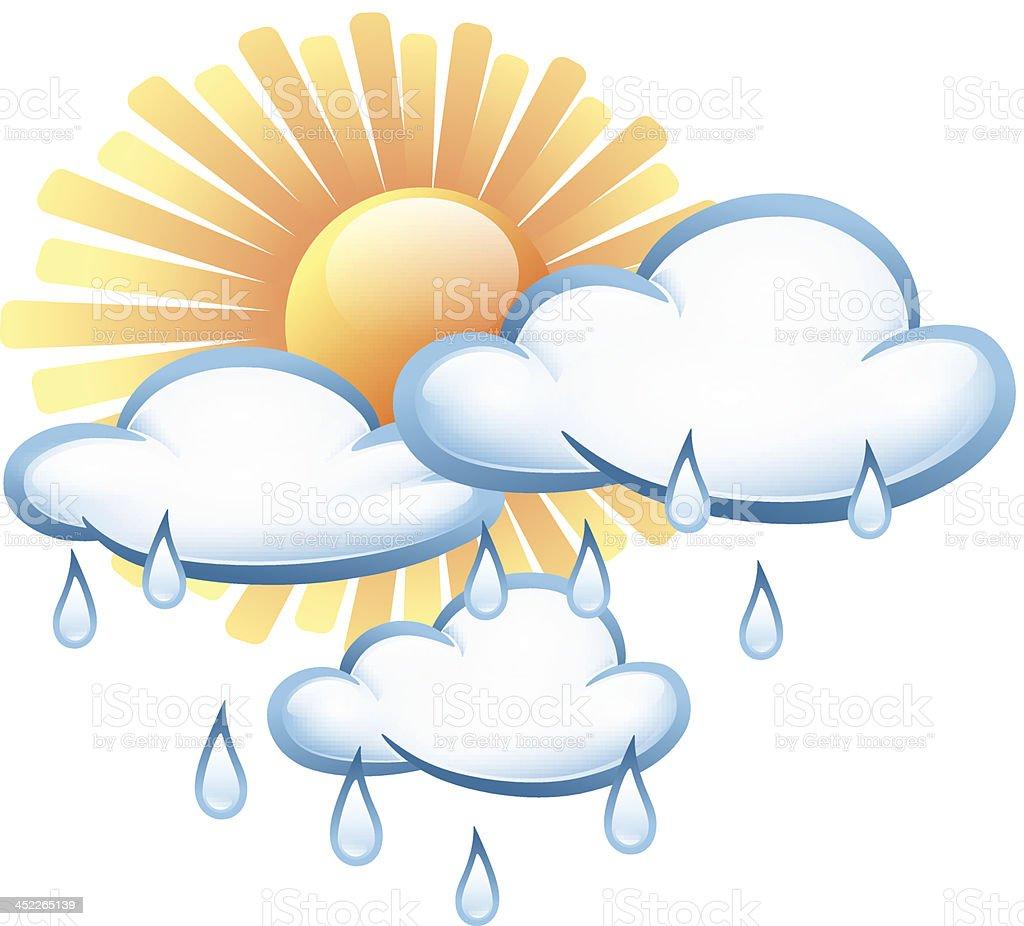 Weather symbols royalty-free stock vector art