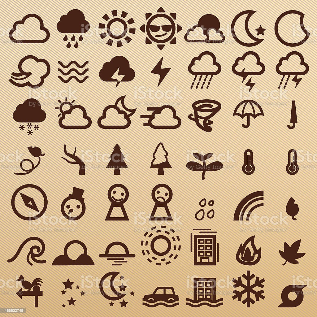 Weather symbols royalty-free stock vector art