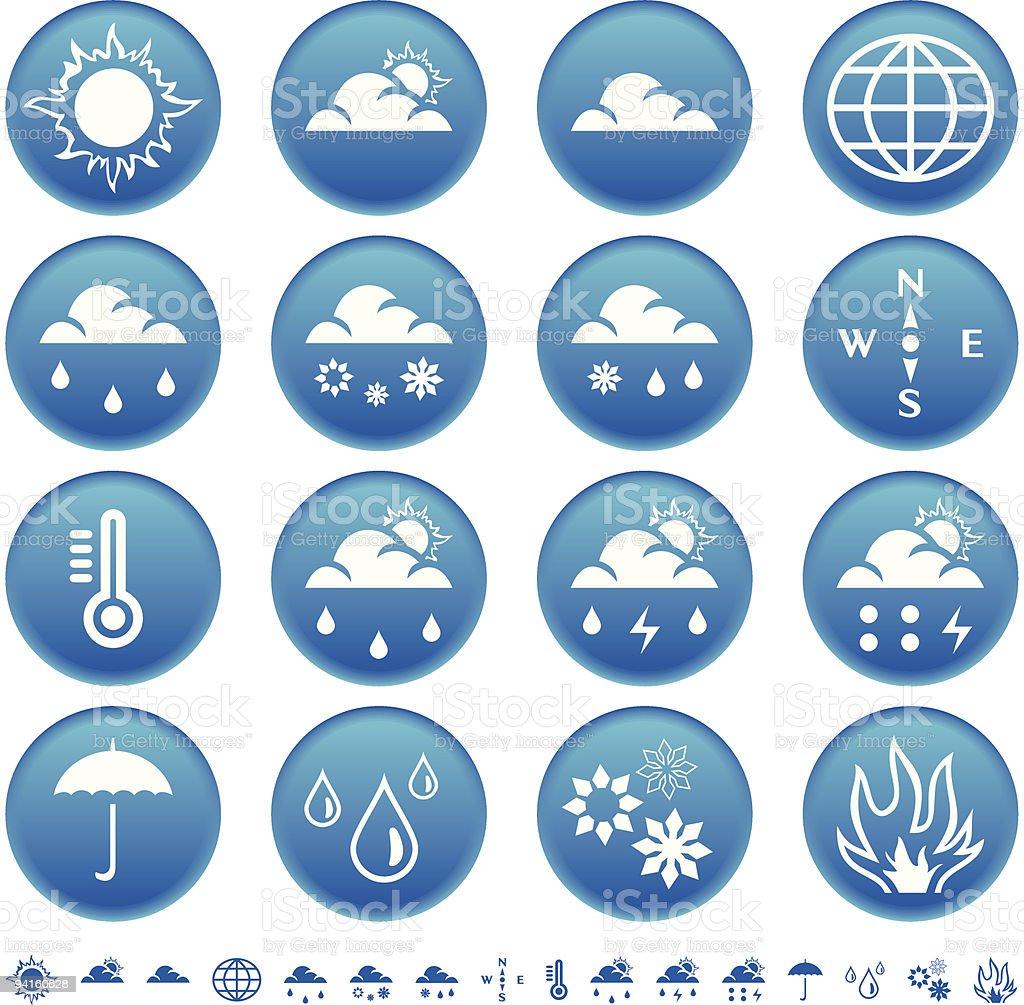 Symboles de la météo stock vecteur libres de droits libre de droits