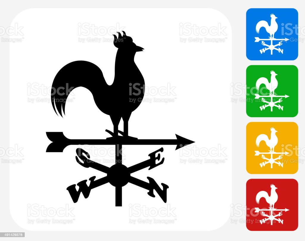 Weather Vane Icon Flat Graphic Design vector art illustration