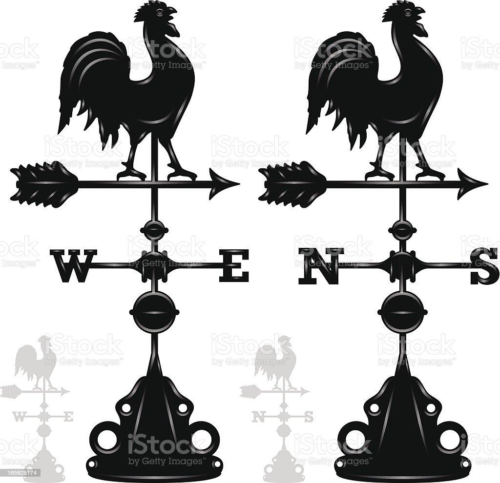 Weather Vanes royalty-free stock vector art