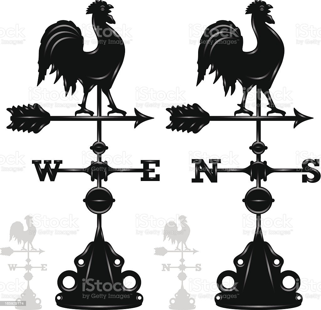 Weather Vanes vector art illustration