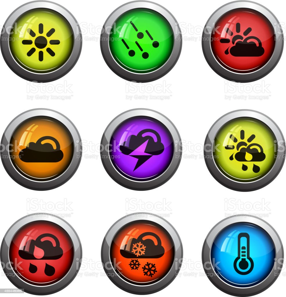 Weather vector icons royalty-free stock vector art