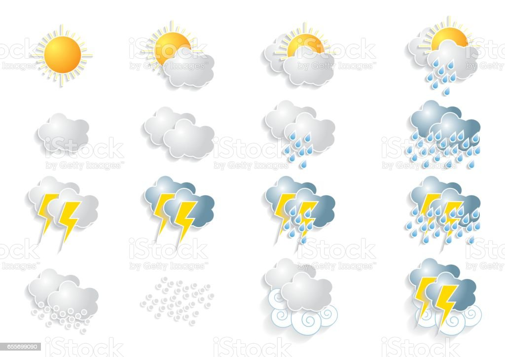 Weather vector art illustration