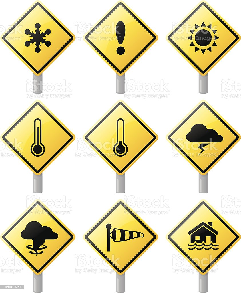 Weather Warnings royalty-free stock vector art