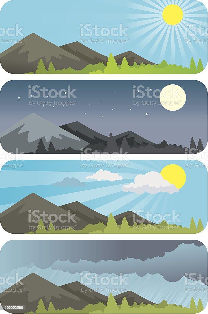 weather widget vector royalty-free stock vector art