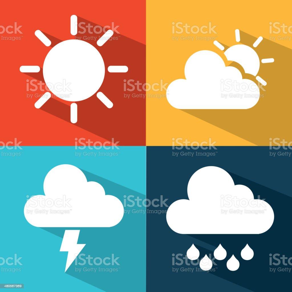 Weather world vector art illustration