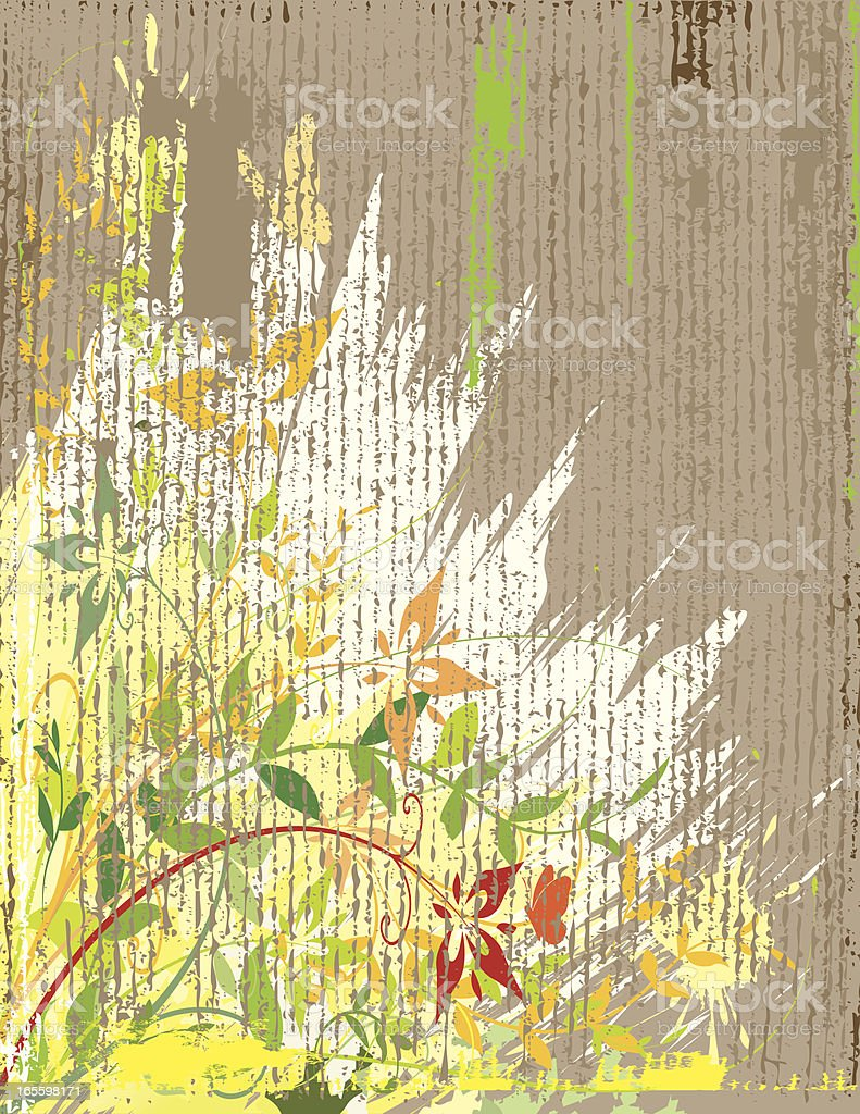 Weathered Flowers royalty-free stock vector art