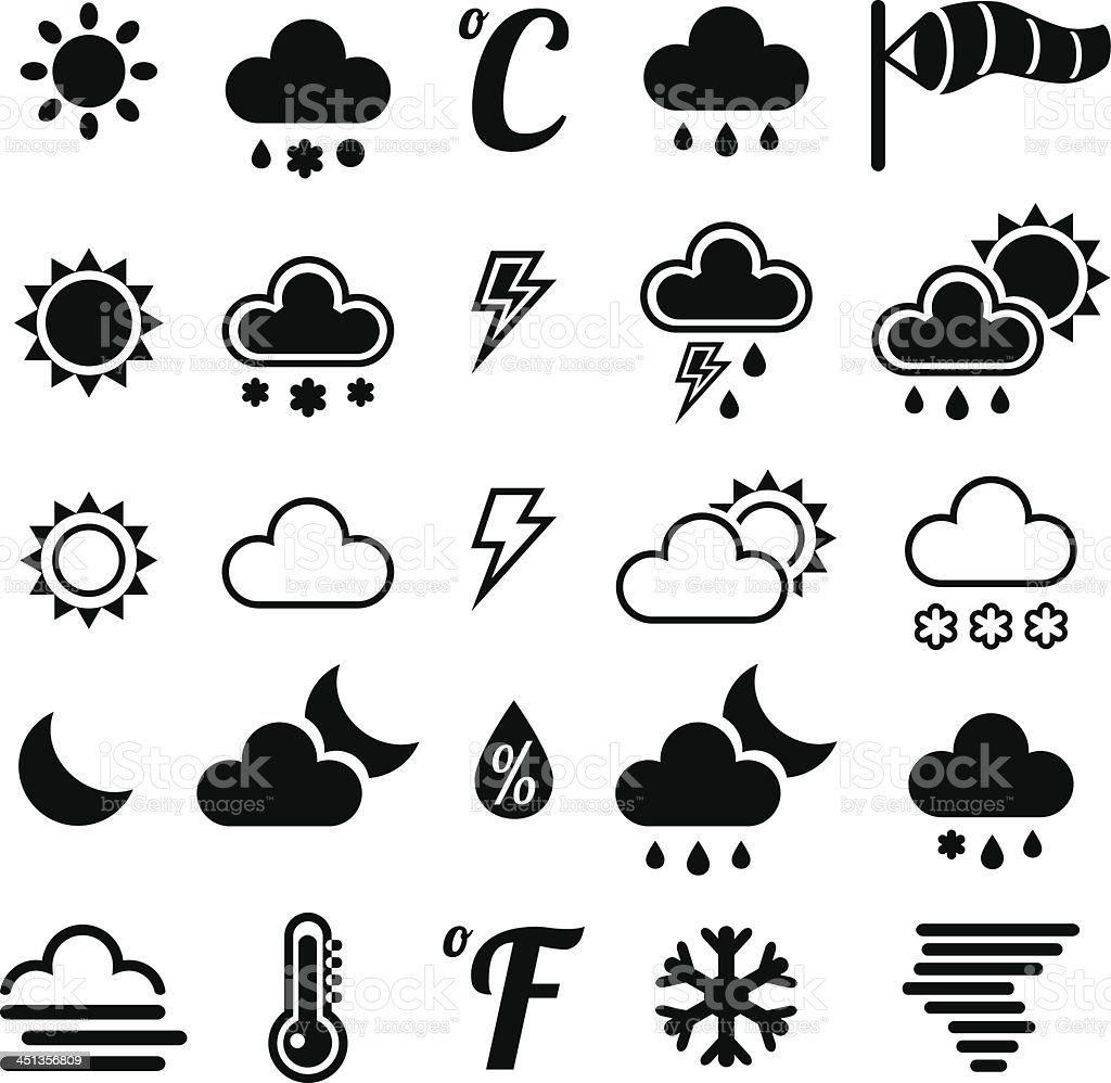 WeatherIcons royalty-free stock vector art