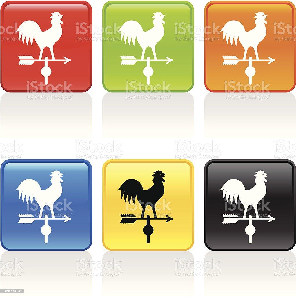 Weathervane Icon royalty-free stock vector art