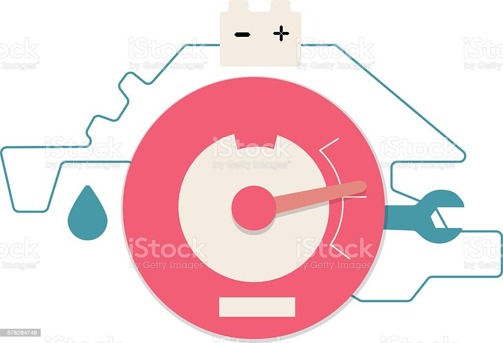 Web analytics icon vector art illustration