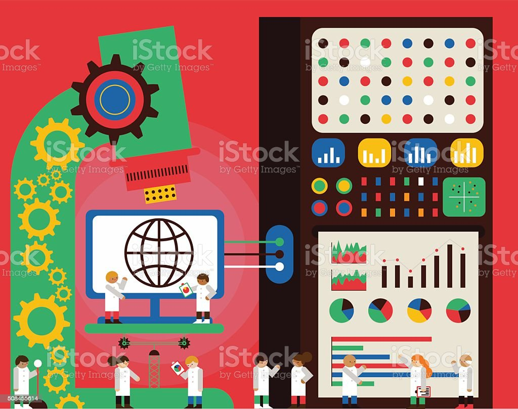 Web Analytics vector art illustration