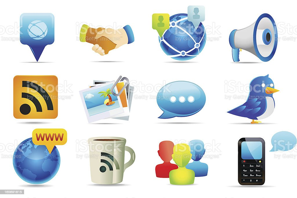 Web and Communication Icons royalty-free stock vector art