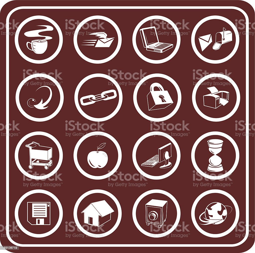 Web and Computing Icons royalty-free stock vector art