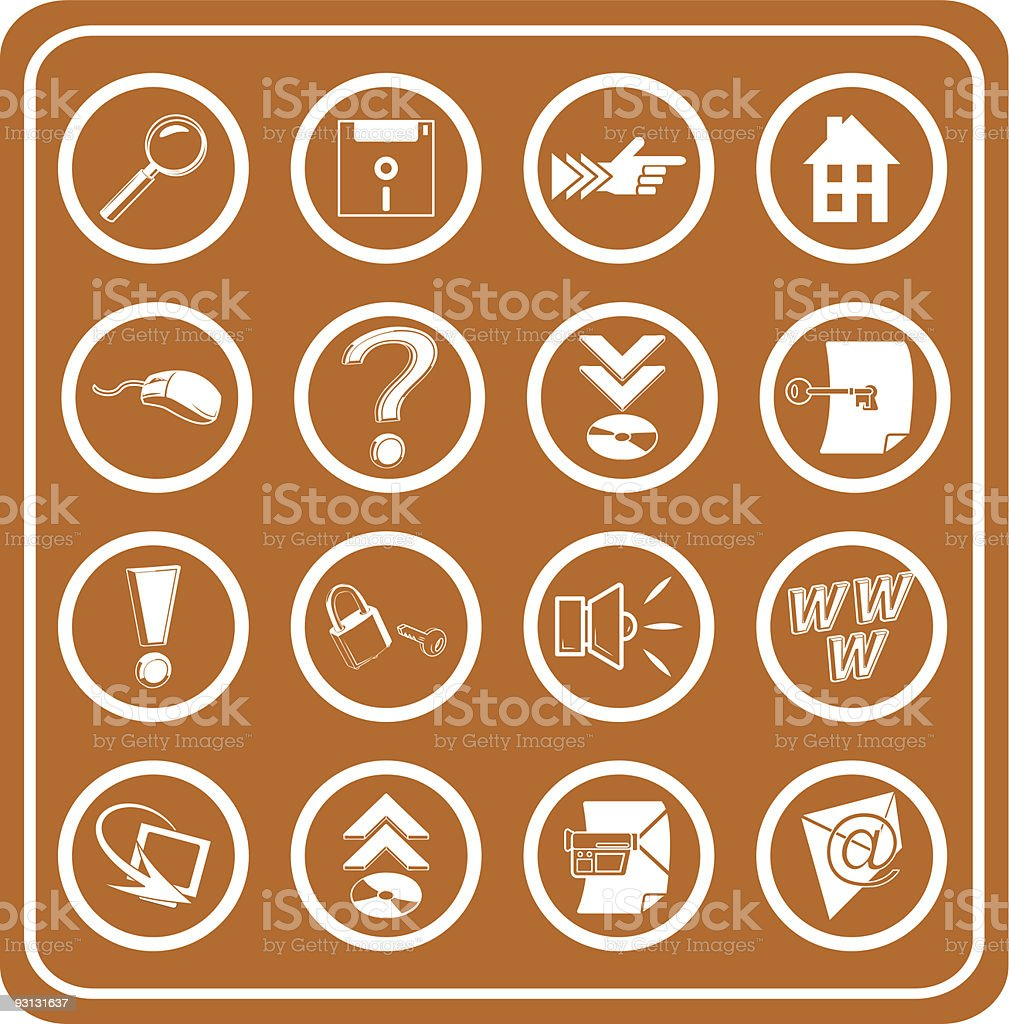 Web and Computing Icons royalty-free stock vector art