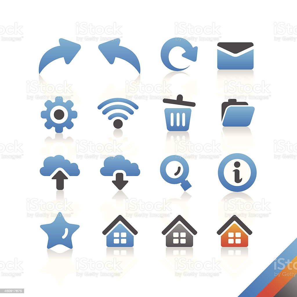 Web and Internet Icon set - Simplicity Series royalty-free stock vector art