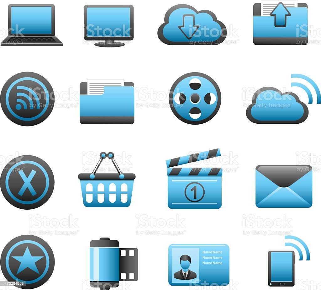 Web and Internet Icon Set royalty-free stock vector art