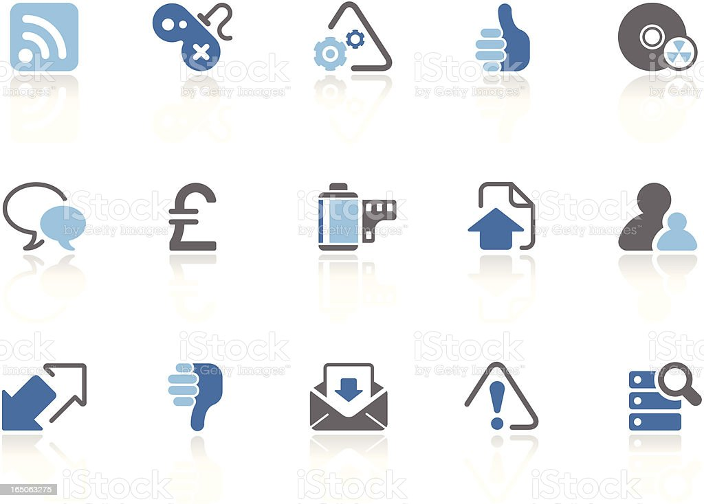 Web and Internet icons | azur series royalty-free stock vector art