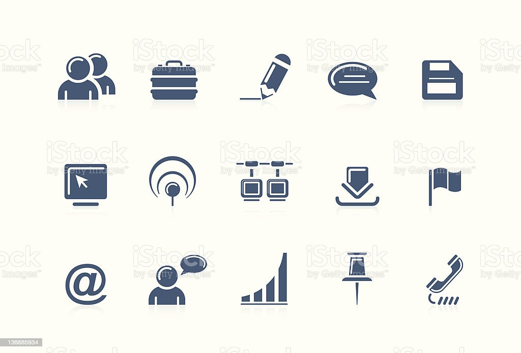 Web and internet icons   piccolo series royalty-free stock vector art