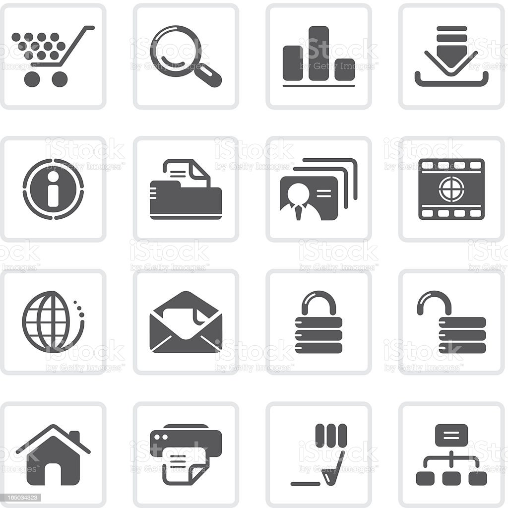 Web and Internet icons | prime series vector art illustration