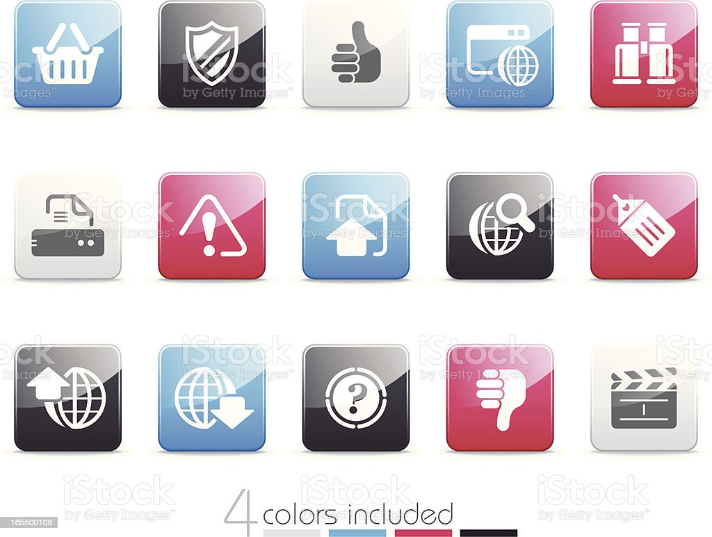 Web and Internet icons | Senso series royalty-free stock vector art