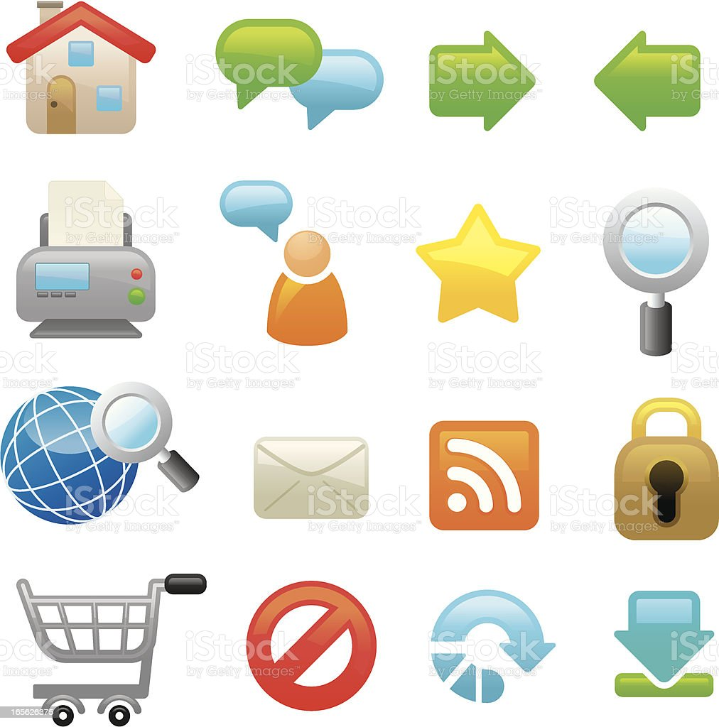 Web and internet icons | smoso series royalty-free stock vector art