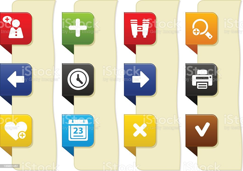 Web and internet icons stock photo