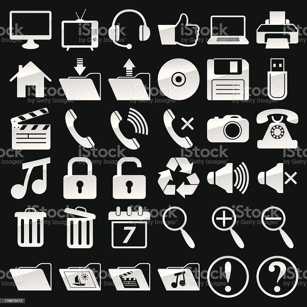 Web and media icons royalty-free stock vector art
