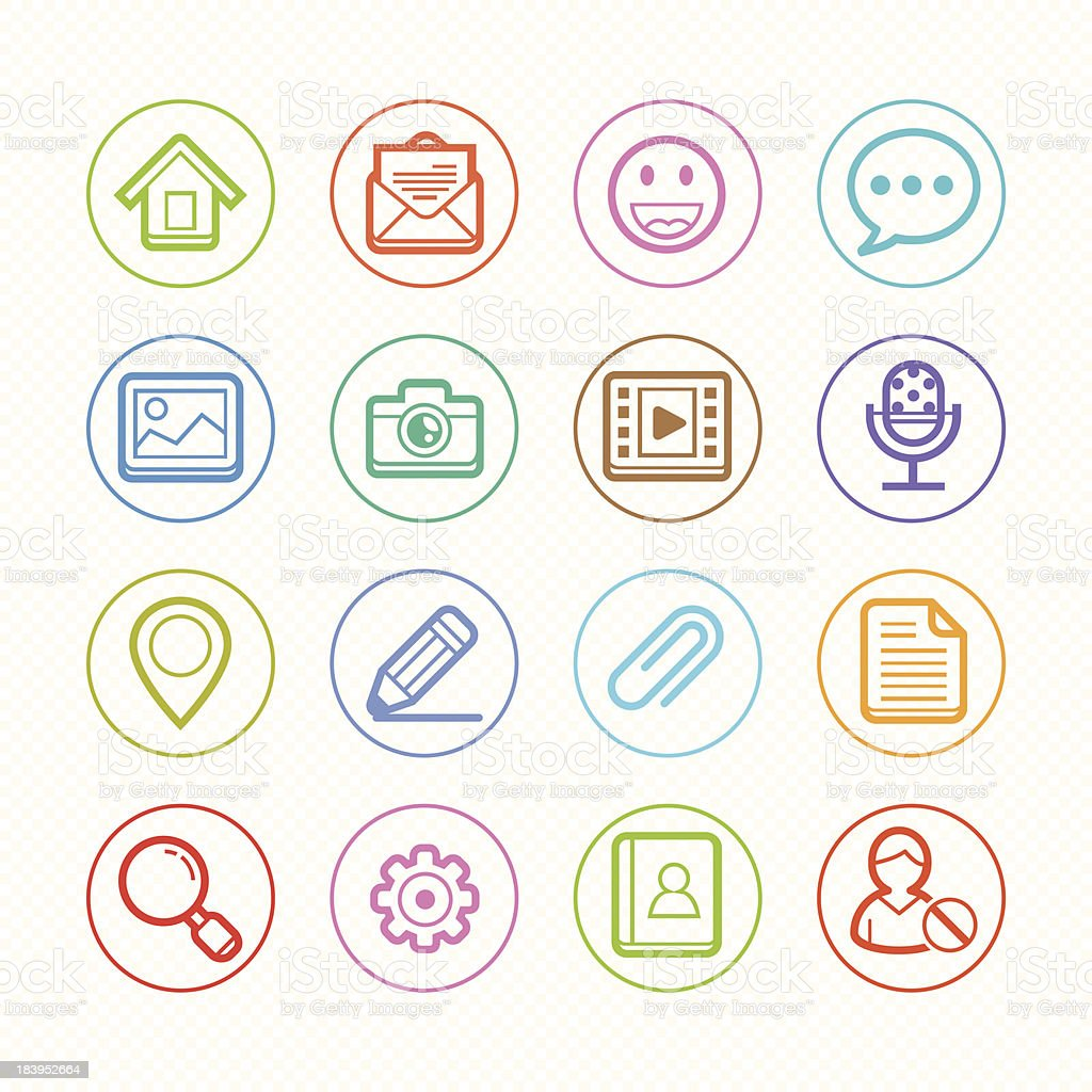 Web and Mobile line color Icons set # Vector illustration royalty-free stock vector art