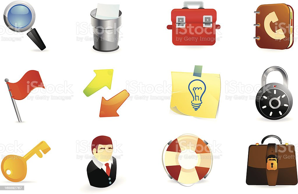 Web and Office Icons royalty-free stock vector art