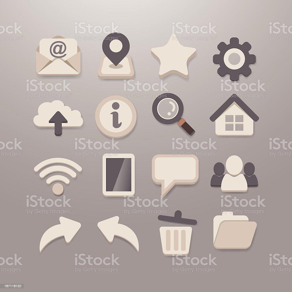 Web and Social media Icon set - Grace_Series royalty-free stock vector art