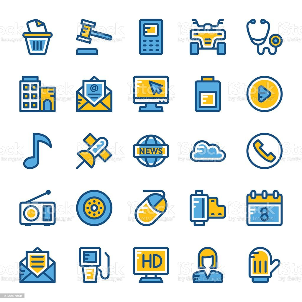 Web and User Interface Vector Icons 10 vector art illustration