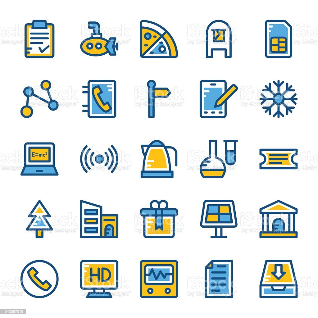 Web and User Interface Vector Icons 11 vector art illustration
