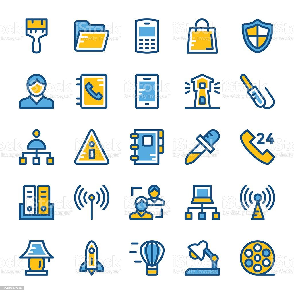 Web and User Interface Vector Icons 3 vector art illustration