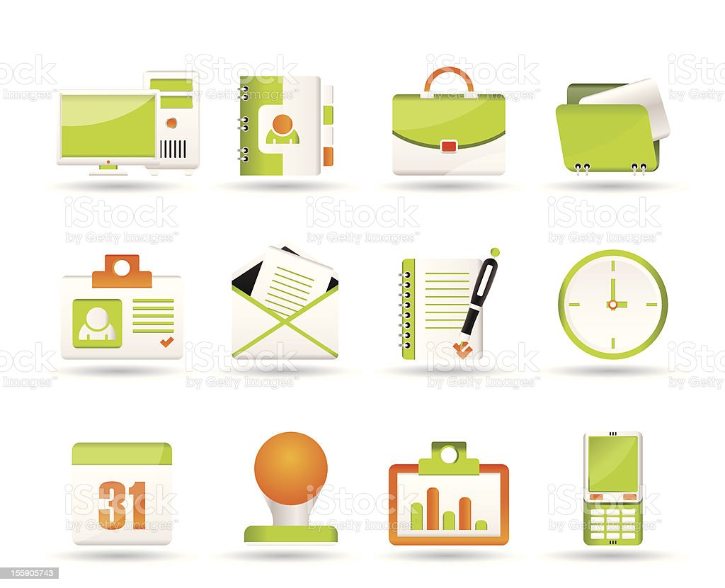 Web Applications,Business and Office icons royalty-free stock vector art
