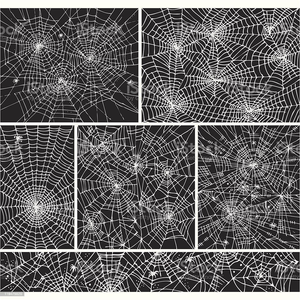Web background pattern set vector art illustration