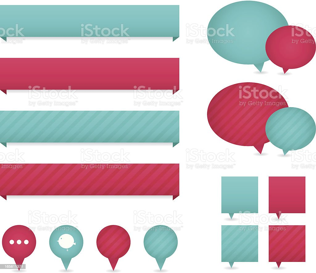 Web banners royalty-free stock vector art