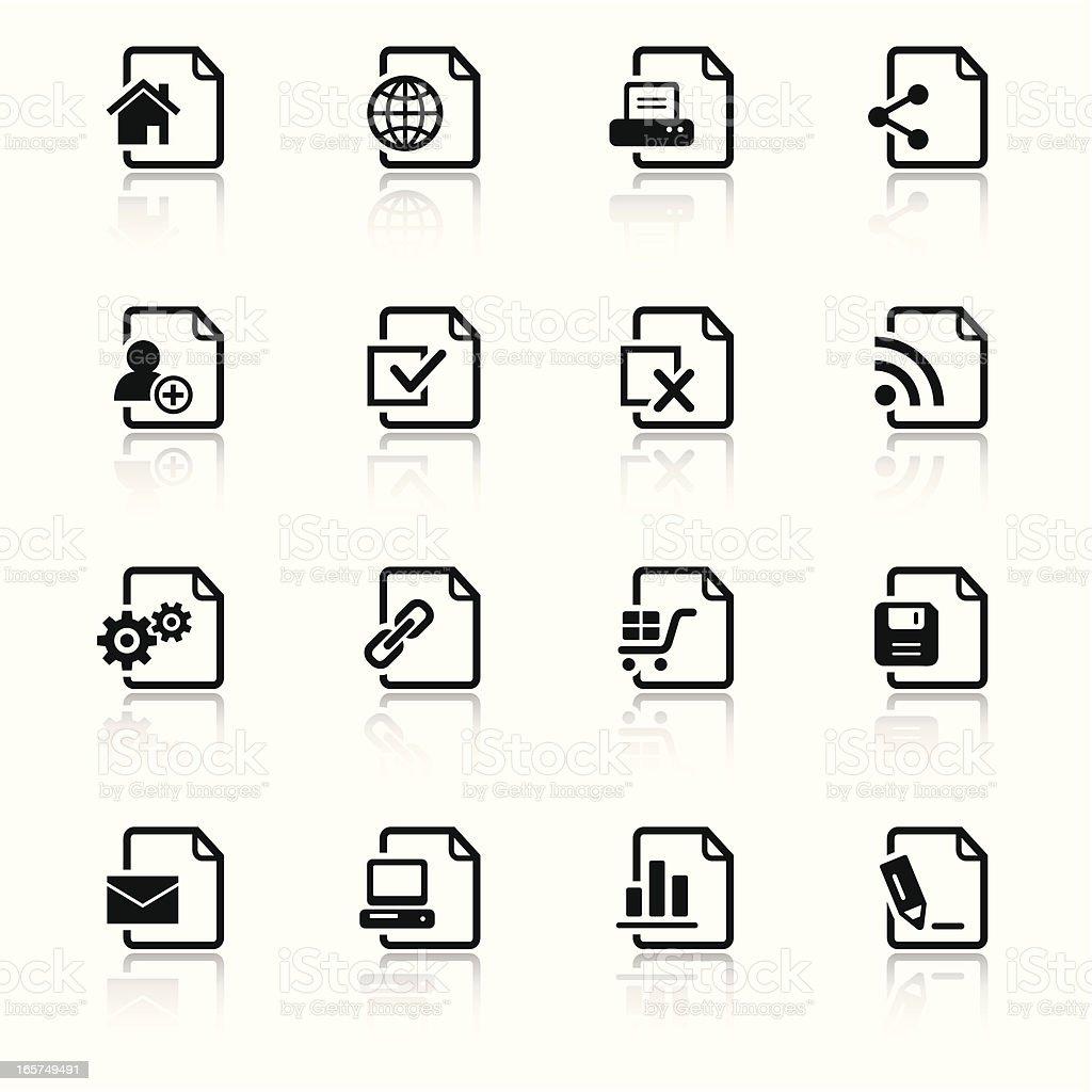 Web Black & White Icons Set royalty-free stock vector art