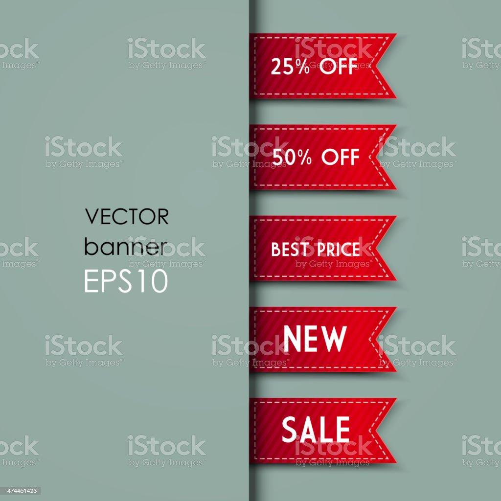 Web Bookmarks. Vector illustration vector art illustration