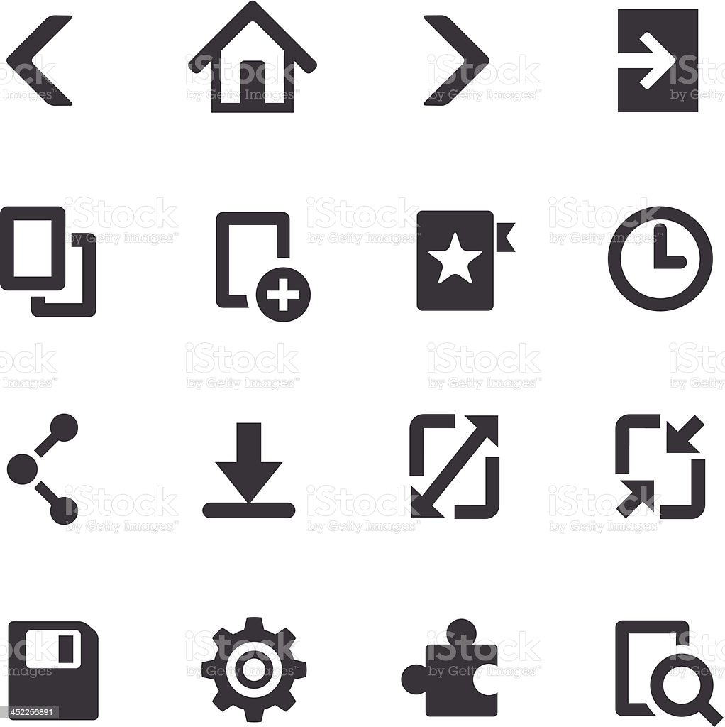 Web Browser Icons On Mobile Devices - Acme Series vector art illustration