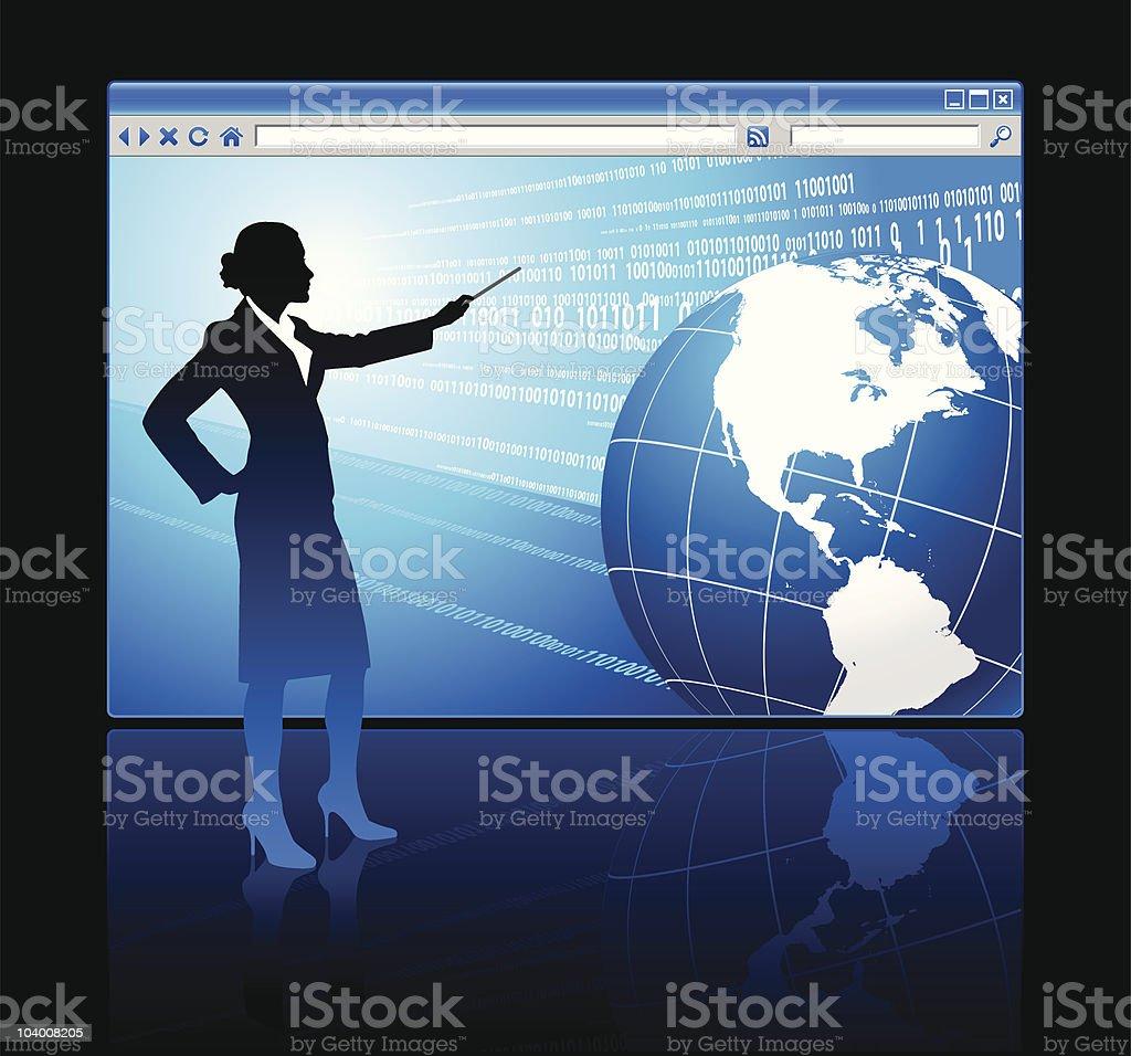Web browser internet concept royalty-free stock vector art