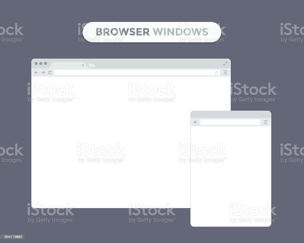 Web Browser Window vector art illustration