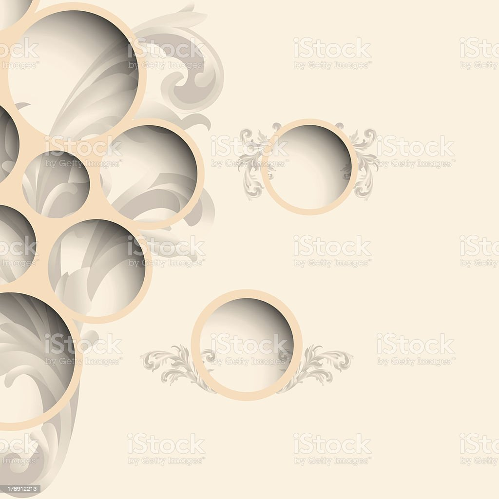Web bubbles with floral pattern royalty-free stock vector art