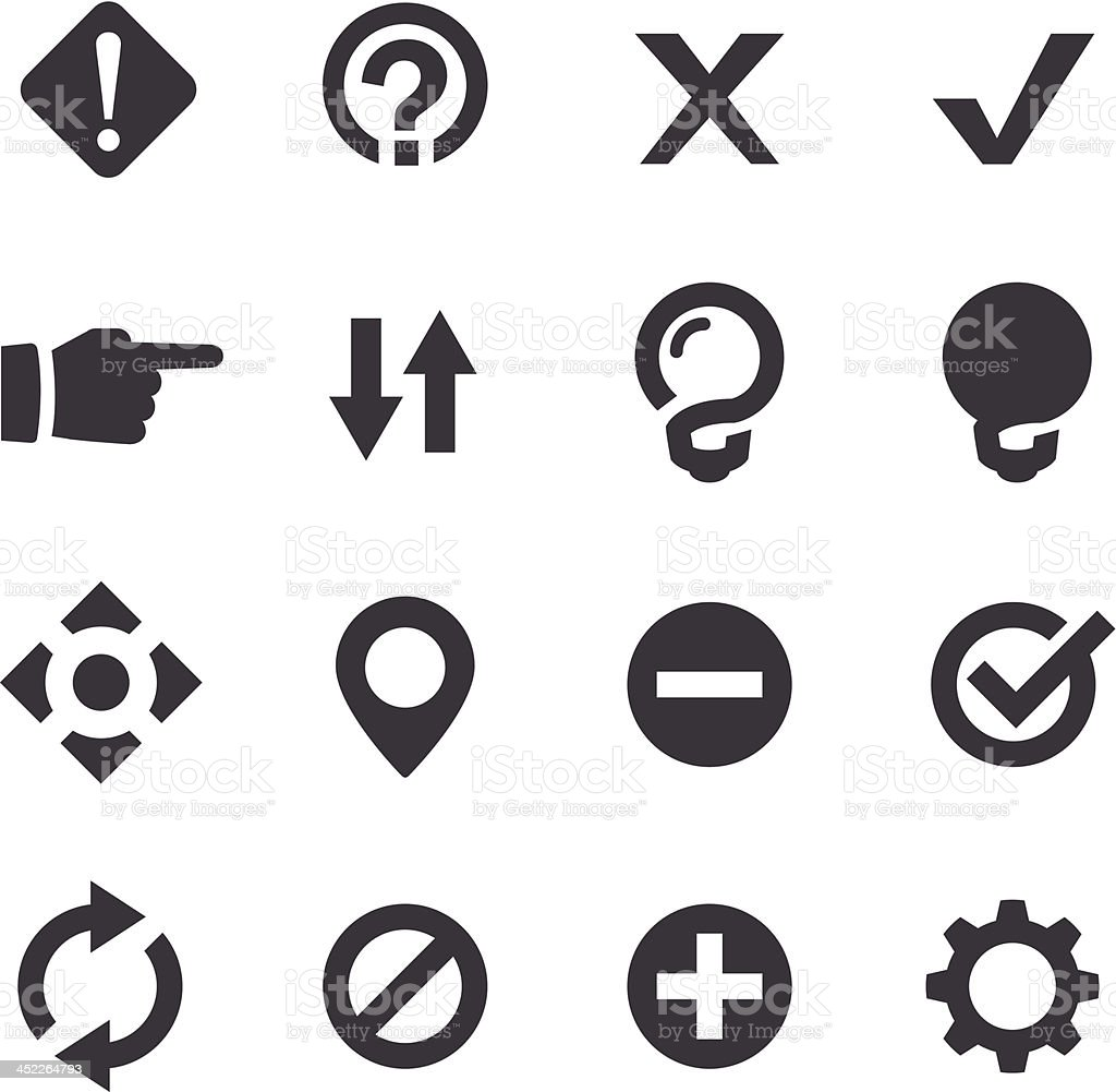 Web Button Icons - Acme Series vector art illustration
